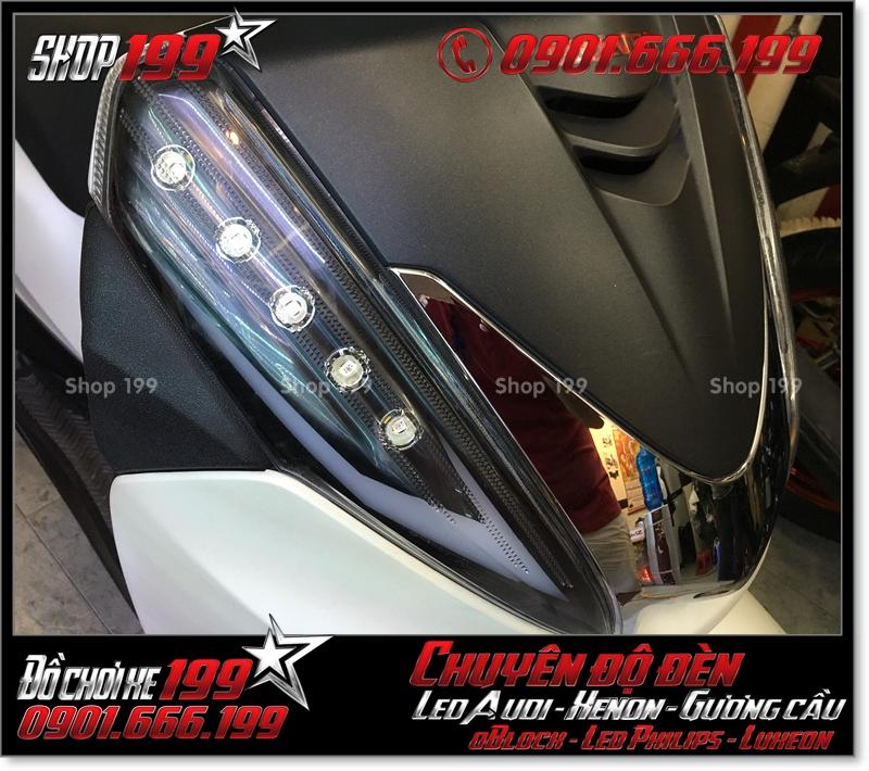 Hình độ đèn led audi cho xe máy SH 300i 2008 2016 2016 đẹp đẳng cấp tại Tp HCM Q12 2000-2015