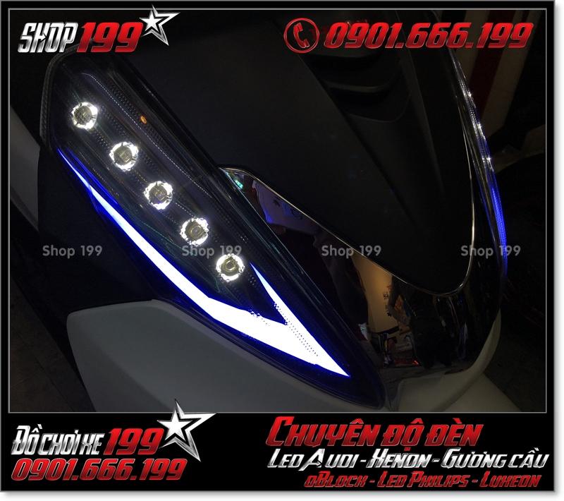 Image chế đèn led audi cho xe máy honda SH 300i 2008 2016 2016 đẹp mắt cao cấp ở TPHCM Q7 2006-2012