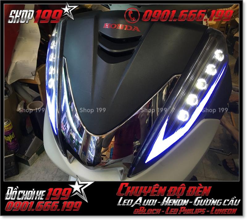 Image làm đèn led audi cho xe máy SH 300i 2008 2016 2016 đẹp mắt sang trọng ở TPHCM Quận 2 2001-2013