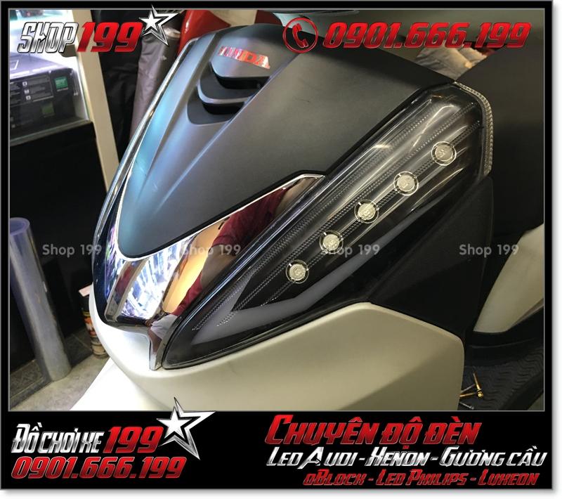 Hình làm đèn led audi cho xe máy SH 300i 2008 2016 2016 đẹp cao cấp ở TPHCM Q1 2001-2014