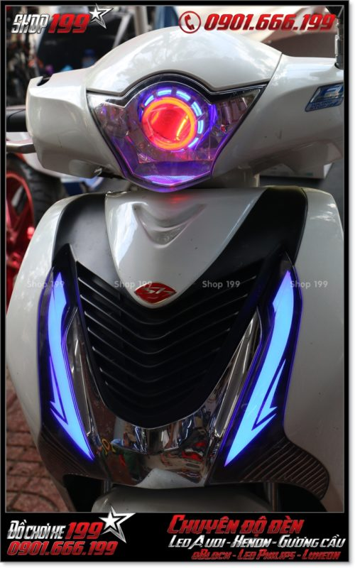 Độ đèn led cho xe máy SH Việt 2012 2013 2014 2015 2016 125i 150i đẹp mắt cao cấp tại TPHCM Q8 2005-2018