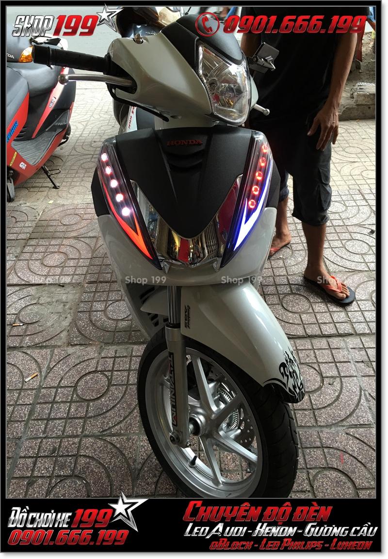 Chế đèn led audi cho xe máy honda SH 300i đẹp cao cấp tại TPHCM Q9 2001-2019