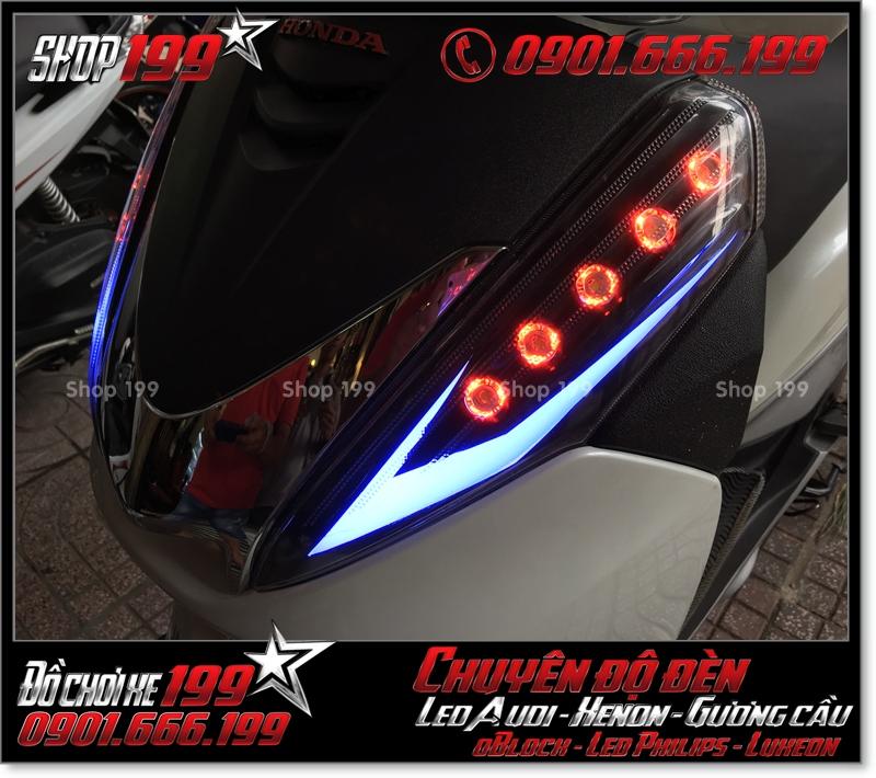Làm đèn led audi cho xe máy honda SH 300i đẹp mắt sang trọng tại HCM Tân Bình 2003-2017