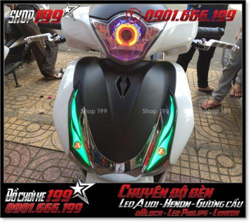 Độ đèn led audi cho xe máy SH Việt Nam 2012 2013 2014 2015 2016 125i 150i đẹp sang trọng tại Tp HCM Q8 2005-2019