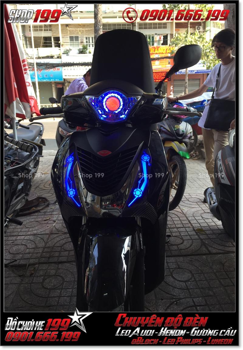 Làm đèn led audi cho xe máy honda SH Việt 2012 2013 2014 2015 2016 125i 150i đẹp mắt đẳng cấp tại TPHCM Q1 2008-2018