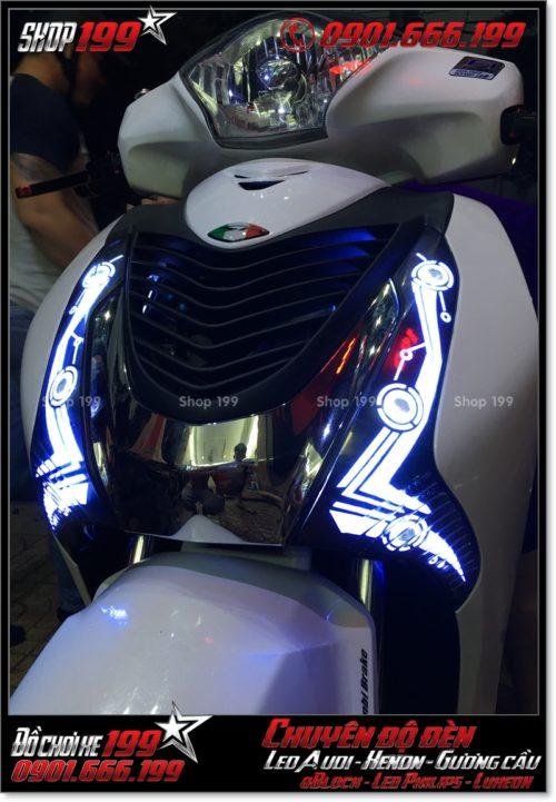 Làm đèn led audi cho xe máy SH VN 2012 2013 2014 2015 2016 125i 150i đẹp mắt sang trọng tại Tp HCM Quận 2 2003-2016