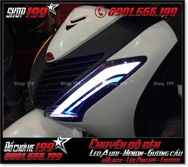 Độ đèn led audi cho xe máy SH Việt Nam 2012 2013 2014 2015 2016 125i 150i đẹp đẳng cấp ở HCM Quận 3 2004-2017