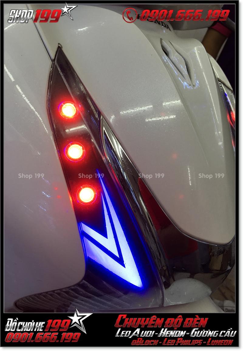 Làm đèn led audi cho xe máy honda SH Việt 2012 2013 2014 2015 2016 125i 150i đẹp sang trọng tại Tp HCM Q6 2006-2019