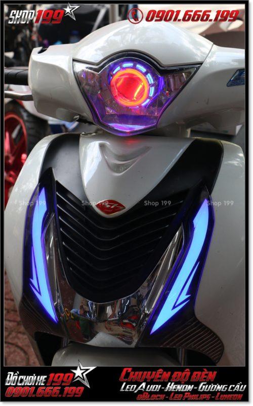 Độ đèn led audi cho xe máy SH Việt 2012 2013 2014 2015 2016 125i 150i đẹp mắt sang trọng tại HCM Q4 2005-2019