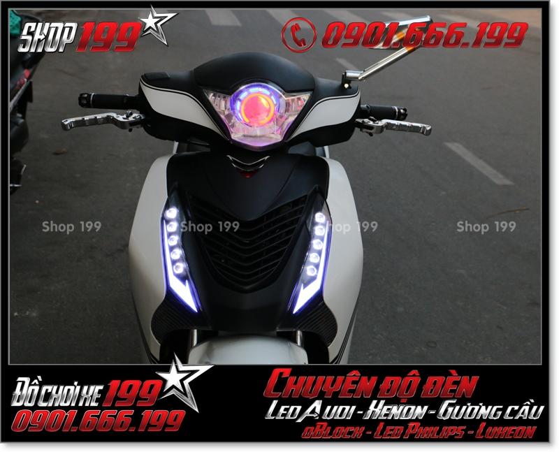 Làm đèn led audi cho xe máy honda SH Việt Nam 2012 2013 2014 2015 2016 125i 150i đẹp mắt sang trọng tại Tp HCM Q3 2005-2016