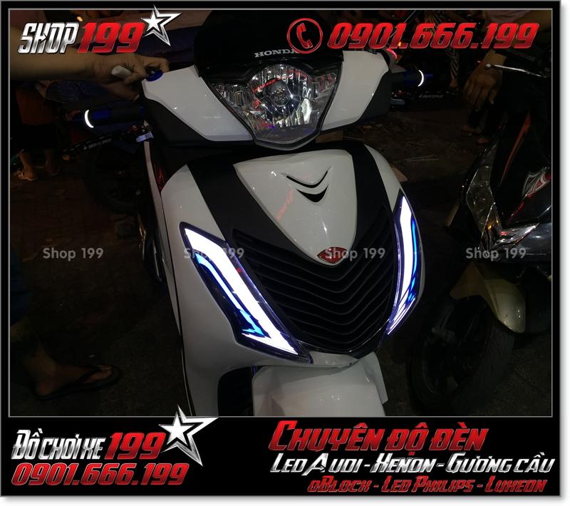 Làm đèn led audi cho xe máy SH Việt 2012 2013 2014 2015 2016 125i 150i đẹp mắt đẳng cấp tại HCM Quận 5 2001-2019