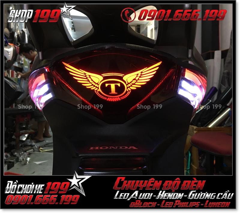 Chế đèn led audi cho xe máy SH Việt Nam 2012 2013 2014 2015 2016 125i 150i đẹp sang trọng tại TPHCM Quận 6 2009-2019