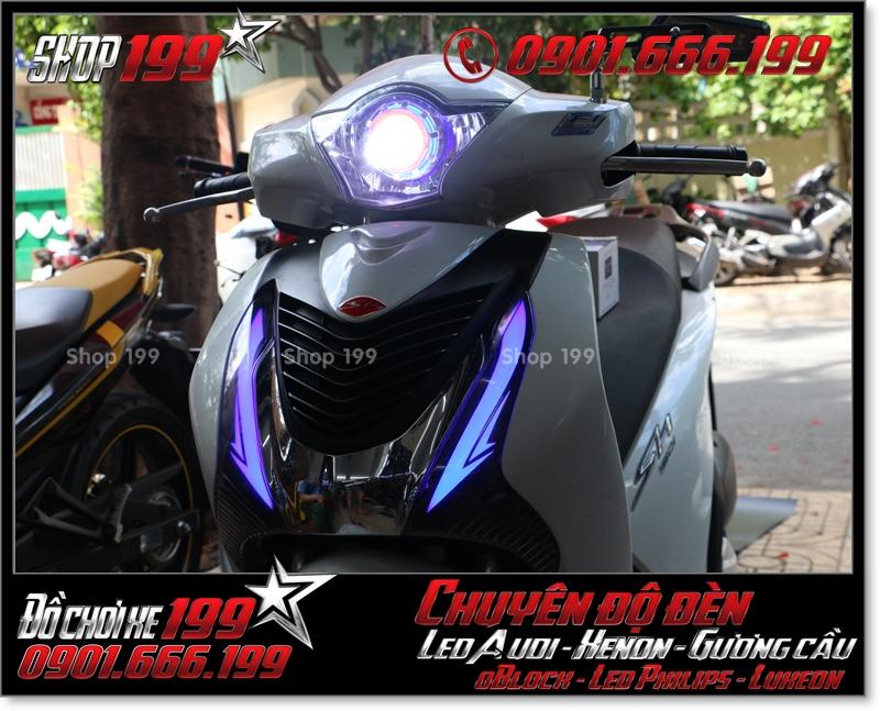 Chế đèn led audi cho xe máy SH Việt 2012 2013 2014 2015 2016 125i 150i đẹp mắt sang trọng ở HCM Tân Bình 2008-2016