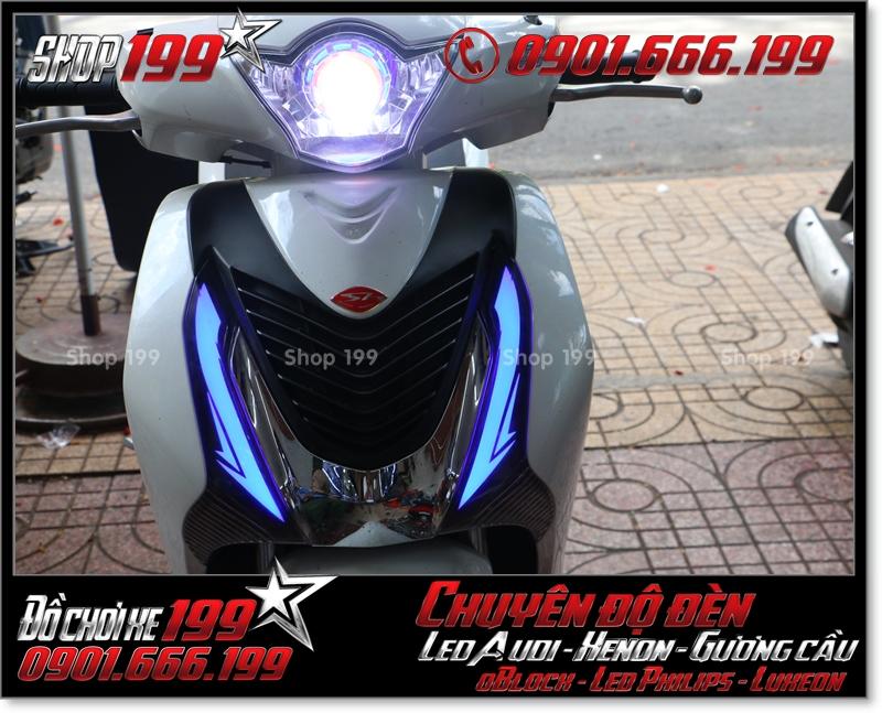 Độ đèn led audi cho xe máy honda SH Việt 2012 2013 2014 2015 2016 125i 150i đẹp mắt đẳng cấp tại TPHCM Q1 2008-2017