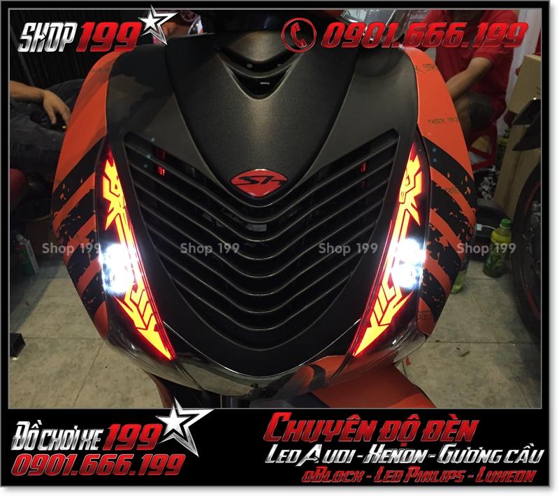 Chế đèn led audi cho xe máy honda SH Việt Nam 2012 2013 2014 2015 2016 125i 150i đẹp mắt đẳng cấp tại TPHCM Quận 6 2003-2016