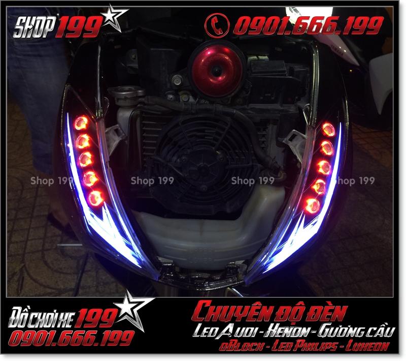 Độ đèn led audi cho xe máy honda SH VN 2012 2013 2014 2015 2016 125i 150i đẹp mắt cao cấp tại Tp HCM Tân Bình 2005-2019