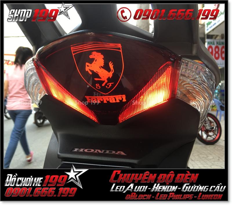Chế đèn led audi cho xe máy honda SH Việt 2012 2013 2014 2015 2016 125i 150i đẹp mắt đẳng cấp tại TPHCM Quận 4 2003-2017