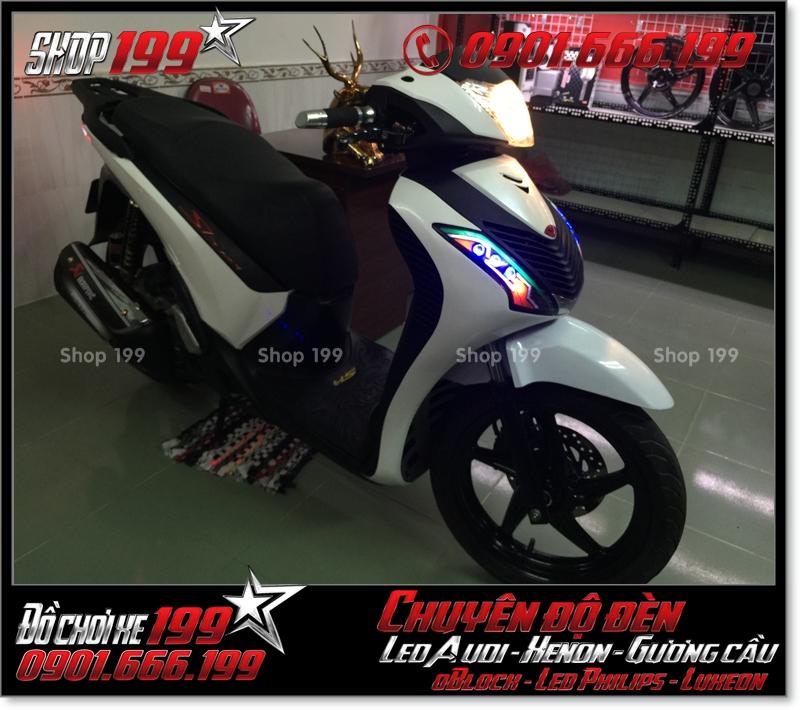 Làm đèn led audi cho xe máy SH Việt Nam 2012 2013 2014 2015 2016 125i 150i đẹp sang trọng ở Tp HCM Quận 8 2003-2016
