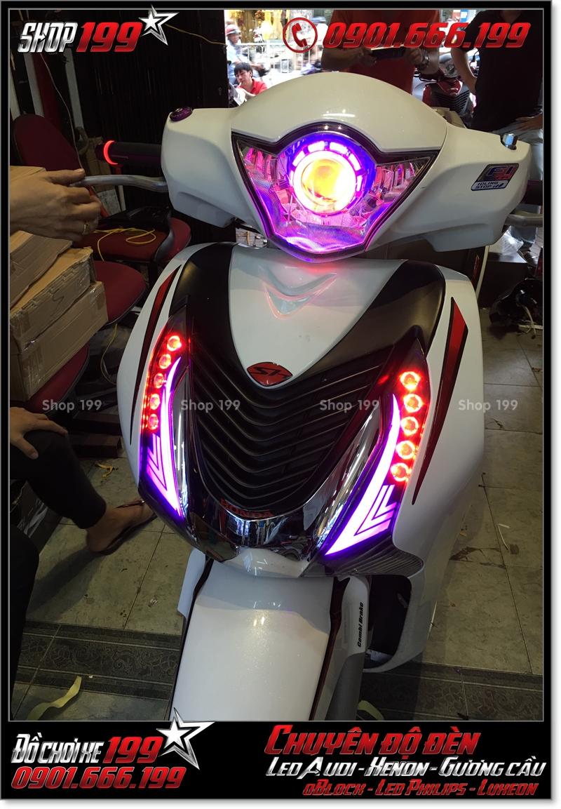 Độ đèn led audi cho xe máy SH VN 2012 2013 2014 2015 2016 125i 150i đẹp sang trọng ở Tp HCM Q6 2004-2019