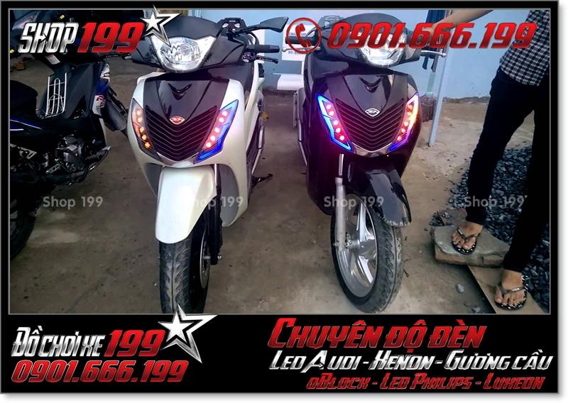 Độ đèn led audi cho xe máy SH Việt 2012 2013 2014 2015 2016 125i 150i đẹp đẳng cấp ở HCM Q2 2001-2019