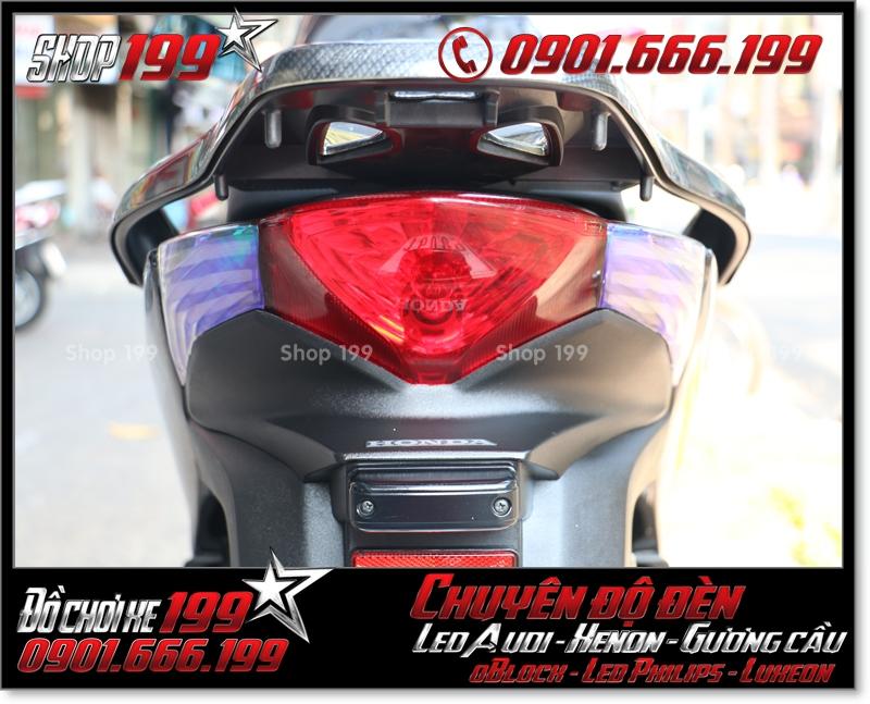Chế đèn led audi cho xe máy honda SH Việt 2012 2013 2014 2015 2016 125i 150i đẹp mắt sang trọng tại HCM Q7 2000-2018