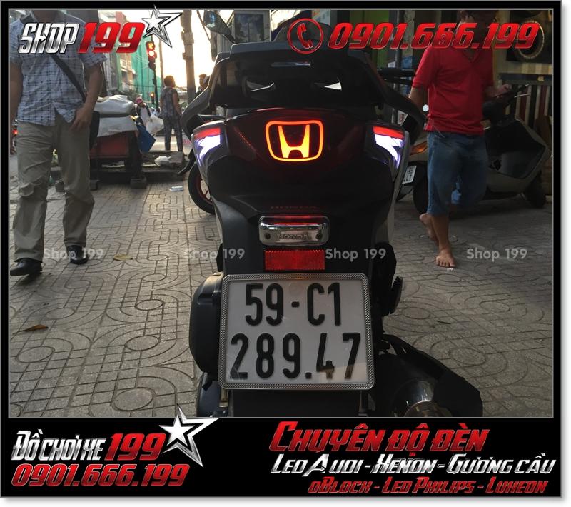 Chế đèn led audi cho xe máy SH Việt Nam 2012 2013 2014 2015 2016 125i 150i đẹp đẳng cấp tại HCM Tân Bình 2006-2018
