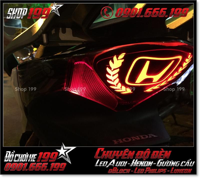 Độ đèn led audi cho xe máy honda SH Việt 2012 2013 2014 2015 2016 125i 150i đẹp mắt cao cấp ở Tp HCM Q3 2002-2018