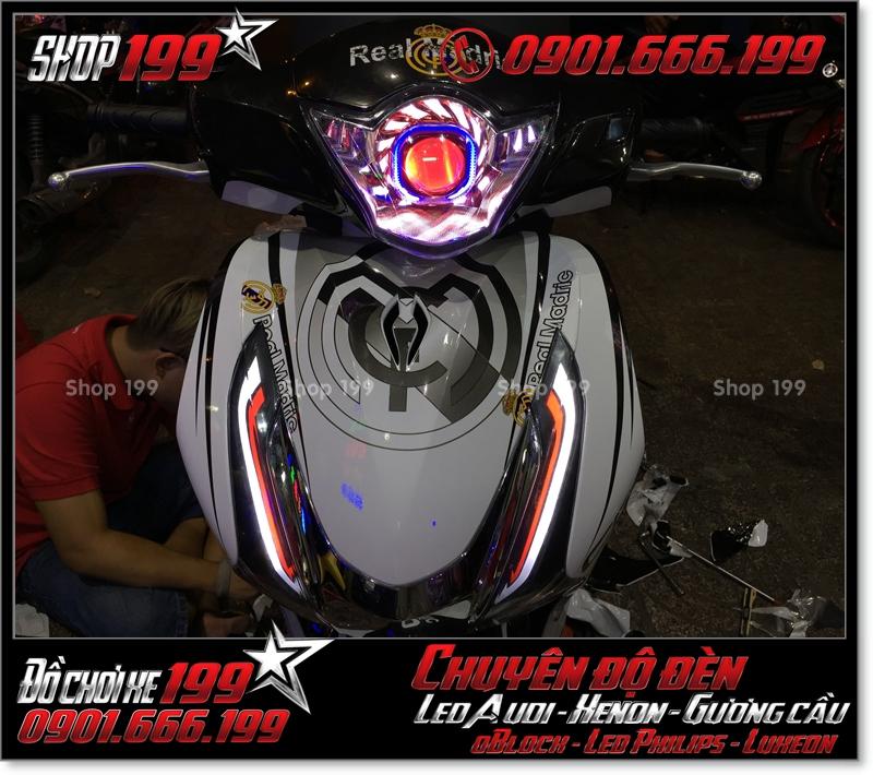 Chế đèn led audi cho xe máy SH Việt 2012 2013 2014 2015 2016 125i 150i đẹp sang trọng tại TPHCM Quận 1 2008-2018