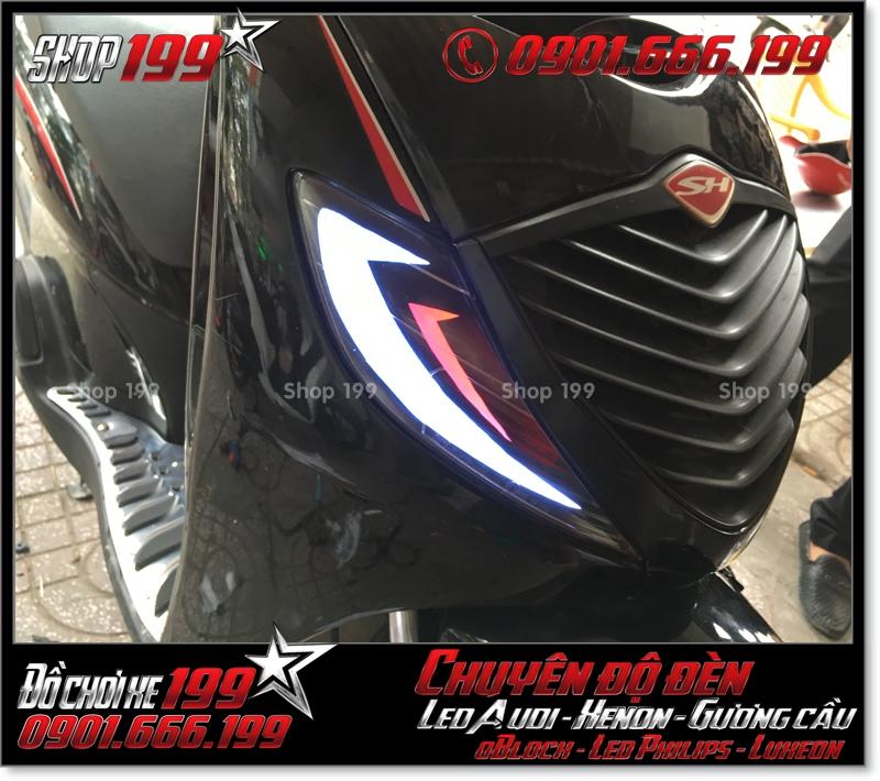 Độ đèn led audi cho xe honda SH 2008 chuyên nghiệp tại Sài Gòn Q5 2007-2019