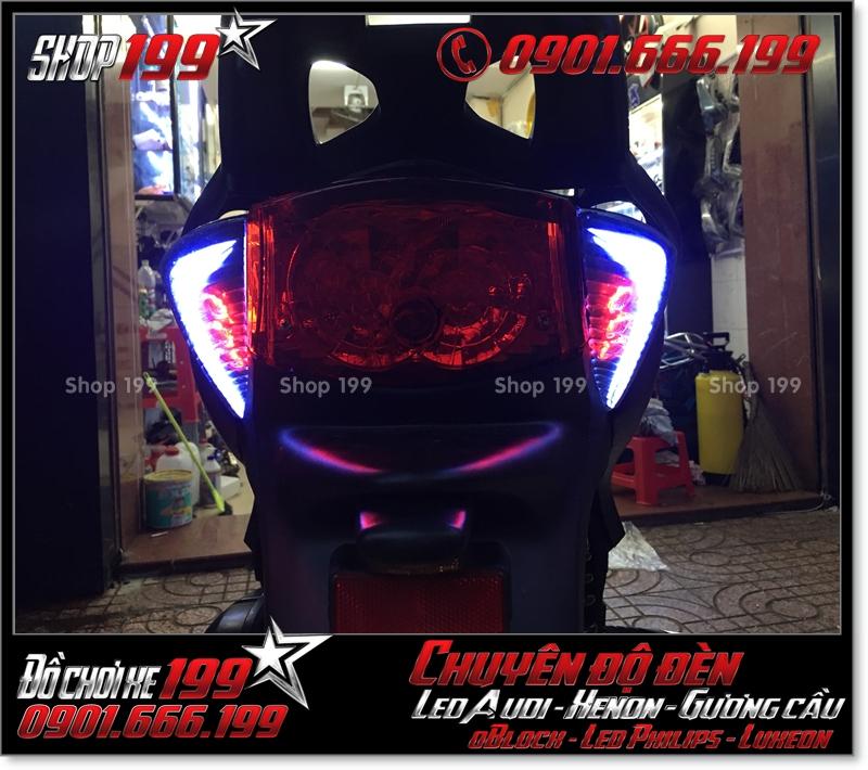 Làm đèn led audi đèn sau xinhan sau cho xe honda SH nhập Ý 2009 2010 2011 chuyên nghiệp ở TPHCM Q9 2001-2017