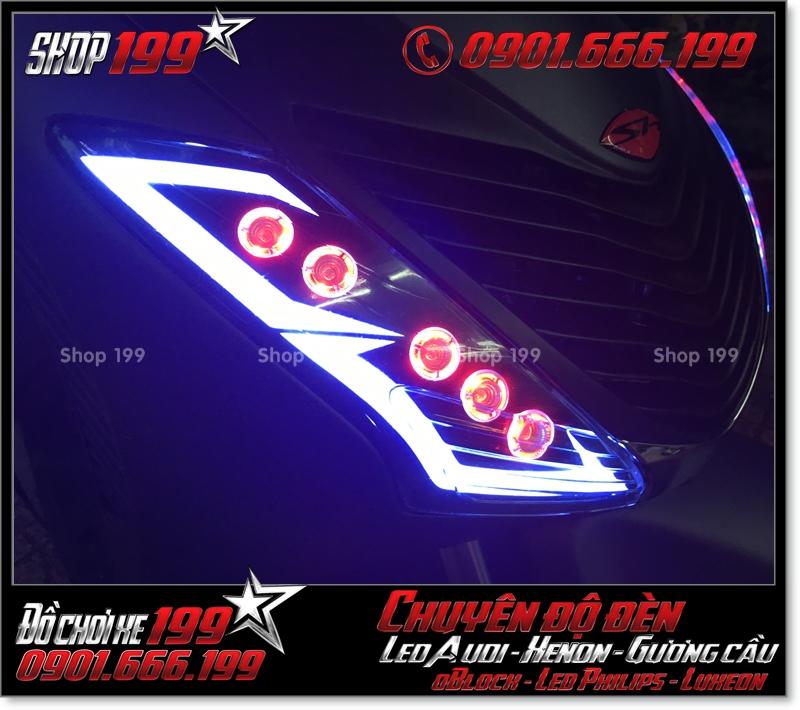 Làm đèn led audi xinhan trước cho xe honda SH 2009 2010 2011 chuyên nghiệp ở HCM Q8 2009-2016