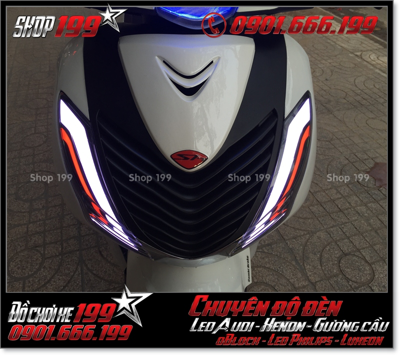 Làm đèn led audi xinhan trước cho xe honda SH 2009 2010 2011 chuyên nghiệp tại TPHCM Q10 2005-2016