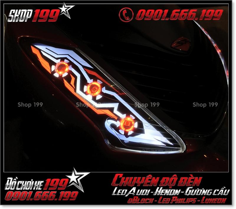 Làm đèn led audi xinhan trước cho xe SH 2009 2010 2011 chuyên nghiệp tại HCM Q7 2001-2019