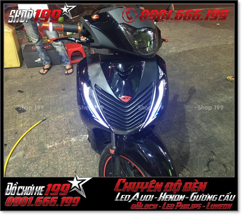 Làm đèn led audi xinhan trước cho xe SH 2009 2010 2011 chuyên nghiệp tại TP Hồ Chí Minh Q5 2003-2016