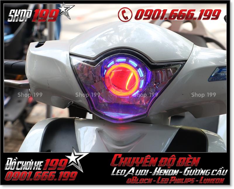 Chế đèn gương cầu cho xe máy SH Việt Nam 2012 2013 2014 2015 2016 125i 150i đẹp sang trọng ở Tp HCM Q6 2001-2013