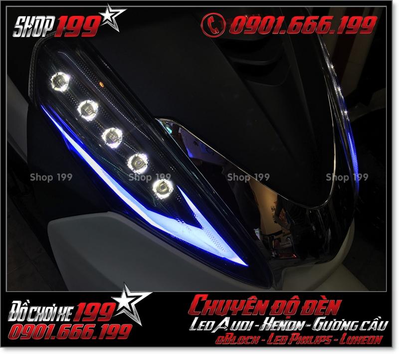 Photo làm đèn led audi cho xe máy honda SH 300i 2008 2016 2016 đẹp đẳng cấp tại Tp HCM Q9 2003-2016