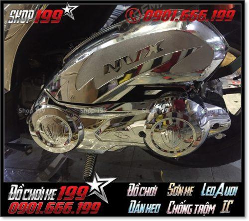 Ốp po e và ốp lốc nồi bằng inox xi cực đẹp cho Yamaha NVX 155, trang trí xe NVX 155