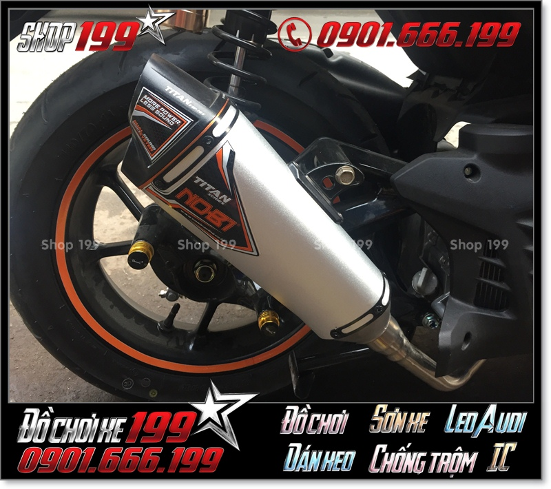 Pô độ cho xe Yamaha NVX 155 cực đẹp và tiếng ấm như moto