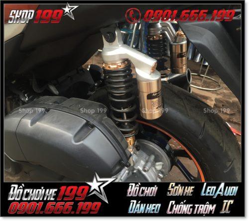 Phuộc sau chính hãng độ cho xe Yamaha NVX 155 hàng hiệu cực chất