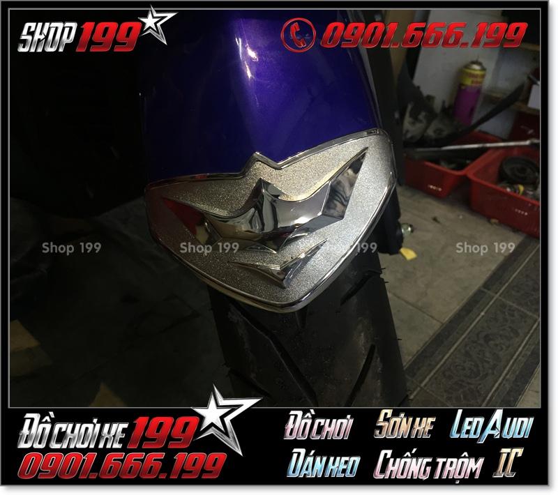 Ốp vè chắn bùn trước bằng Inox xi cực đẹp cho xe máy Yamaha NVX độ đẹp