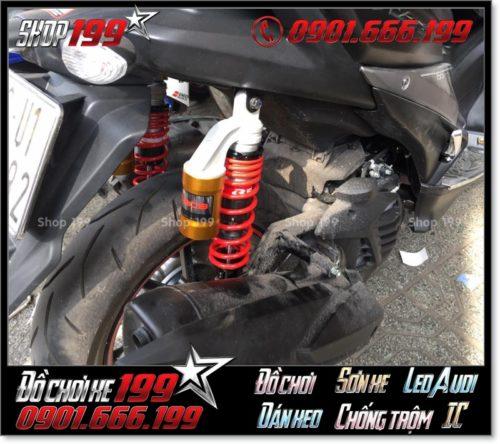 Phuộc sau độ hàng hiệu cho xe Yamaha NVX 155cc cực đẹp và an toàn