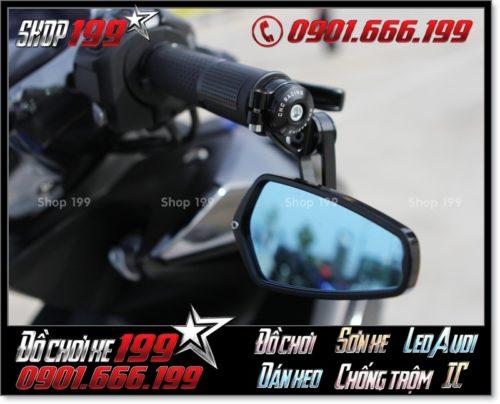 Kính chiếu hậu Frizoma gù cực đẹp lắp cho Yamaha NVX 155cc