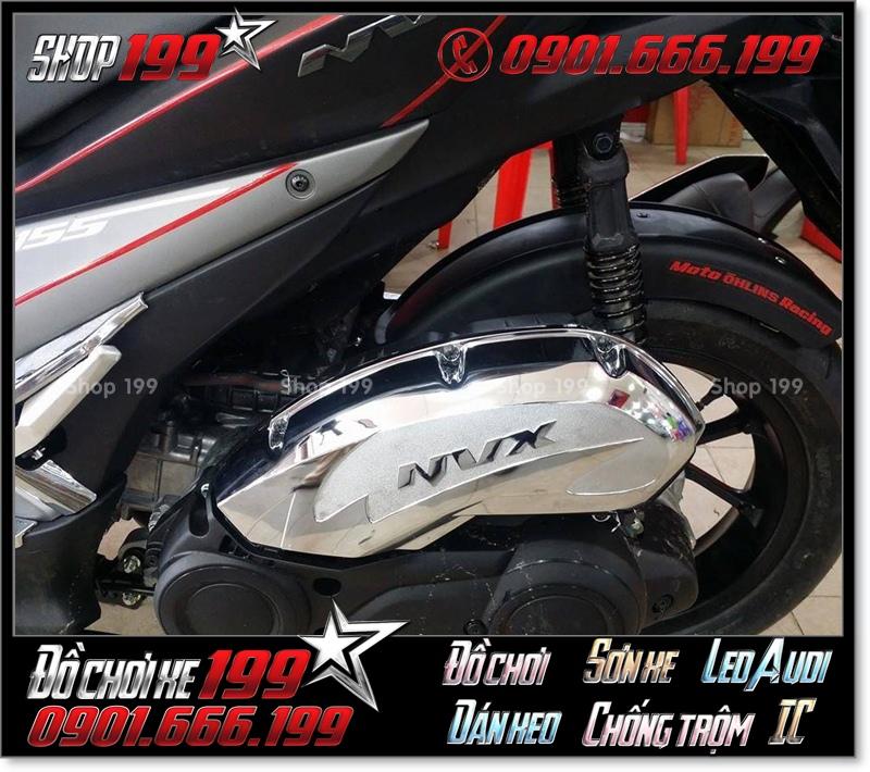 Ốp po e bằng inox xi cho Yamaha NVX 155 cực đẹp hàng hiệu trang trí cho NVX