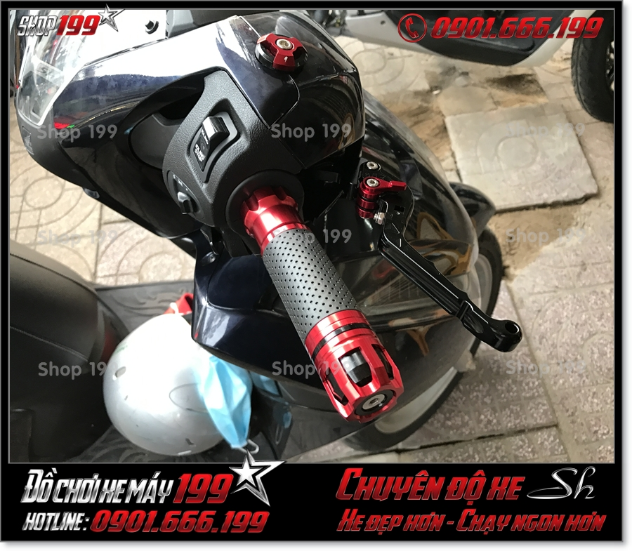 Photo xe Honda SH 125 150 2017 2018 2019 thay tay lái độ kiểng hiệu Rizoma