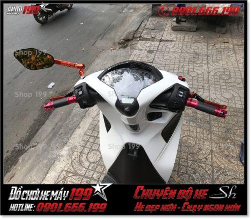 Hình ảnh thay phụ kiện tay cầm độ kiểu cho Honda SH 2017 2018 2019 125 150 giá rẻ ở Sài Gòn
