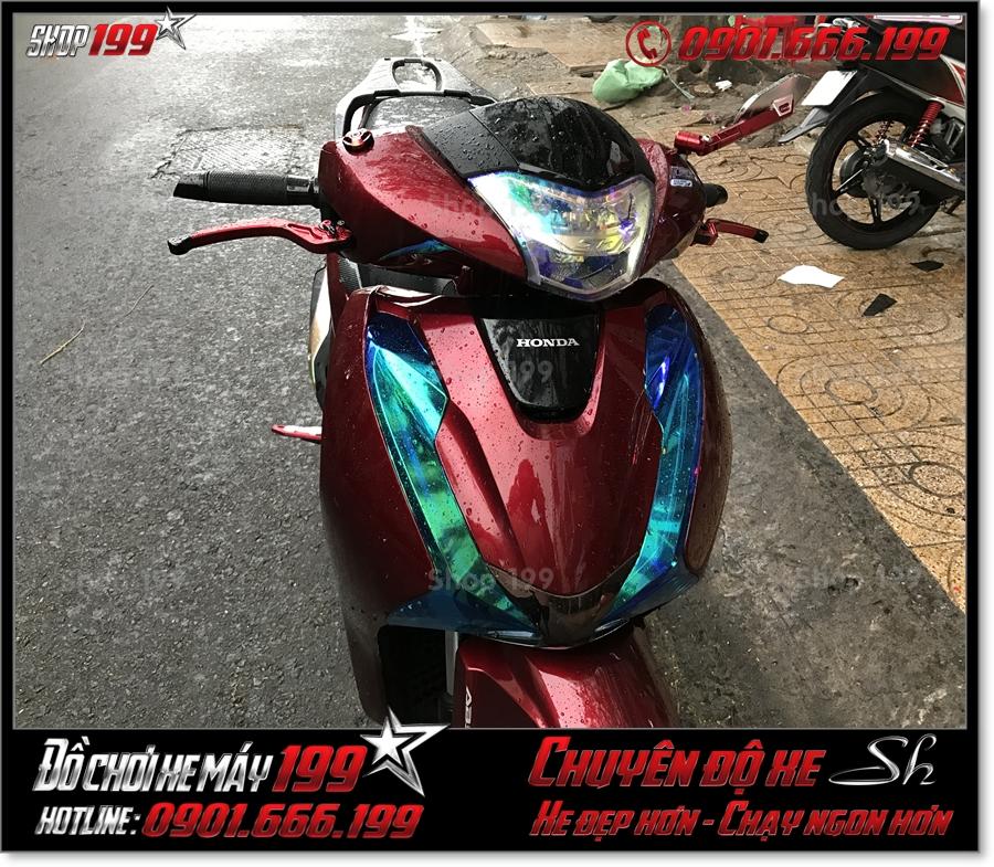 Xem ảnh Honda SH 2017 2018 2019 125 150 dán keo chóa đèn titan giá rẻ trang trí xe đẹp ở TP HCM