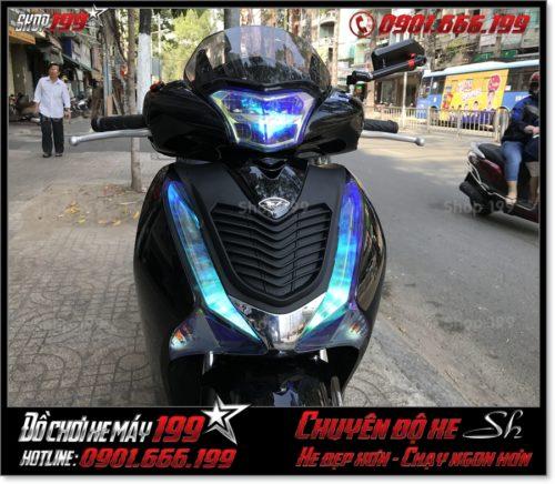 Photo xe SH 2017 2018 2019 125 150 dán keo chóa đèn titan trang trí xe đẹp giá rẻ tại TP HCM