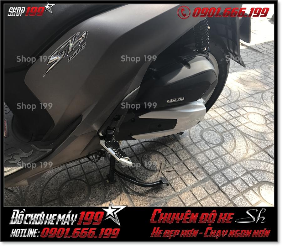 Xem ảnh Honda SH 125 150 2017 2018 2019 gắn gác chân sau Biker nhôm CNC cao cấp