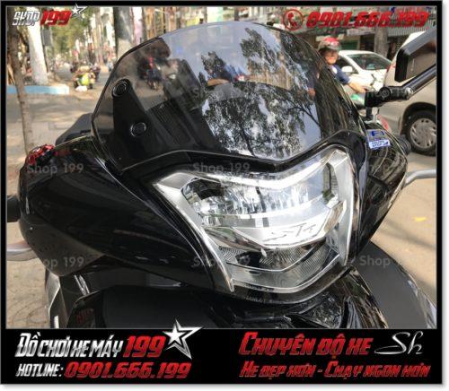 Xem ảnh xe Honda SH 2017 2018 2019 125 150 thay kính chắn gió độ cao cấp, phụ kiện trang trí xe đẹp giá rẻ ở HCM