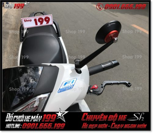 Image of độ đồ chơi kiếng chiếu hậu kiểng cho xe Honda SH 2017 2018 2019 125 150 giá rẻ ở Sài Gòn